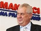 Prezident Miloš Zeman podepsal v sídle strany SPOZ petici za zákon o