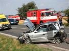 O několik set metrů dále havarovala další auta, řidiči pravděpodobně nedávali...