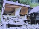Povodně v Kounově u Dobrušky v roce 1998. Symbolem se stal Formánkův zničený...