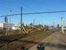 Na pardubick�m hlavn�m n�dra�� vykolejil n�kladn� vlak (21. �ervence 2013)
