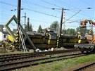 Vykolejen� n�kladn�ho vlaku v Pardubic�ch z�ejm� zp�sobila technick� z�vada na