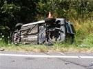 Tragická dopravní nehoda u Mirotic na Písecku. (22. července 2013)
