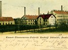 Dobový pohled na znojemskou keramičku, kterou v roce 1878 založil Rudolf