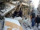 Syrské město Homs po víkendových bojích (29. července 2013)