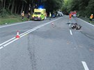 V Buchlovských kopcích bourali hned po sobě dva motorkáři.