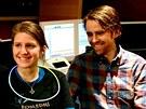 Markéta Irglová s manželem Timem Iselerem (červen 2012)