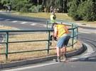 Bylo třeba upravit podmínky a odstranit prvky okružní křižovatky, aby nákladní