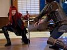 Samurajsk� me�e hraj� ve sn�mku druhou hlavn� roli.