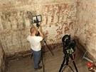 Odborníci skenovali gotickou fresku Posledního soudu v Broumově.