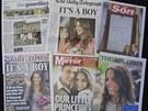 Narození syna prince Williama a Kate na obálkách britských novin (23. července...