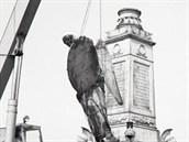 Historici poklad vyzvedli při opravě pomníku v roce 1982.