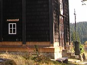 Dřevěný kostel svaté Panny Marie na Gruni.