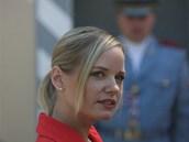 Předsedkyně poslaneckého klubu Věcí veřejných Kateřina Klasnová se sešla v