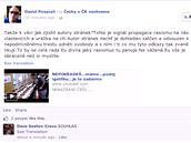 Některé reakce na facebookovém profilu Čechy v ČR nechceme