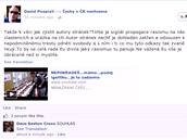 N�kter� reakce na facebookov�m profilu �echy v �R nechceme