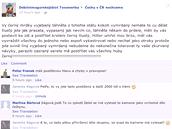 Nekteré reakce z facebookového profilu Čechy v ČR nechceme