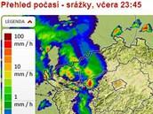 V noci z neděle 28. července na pondělí 29. července zasáhly severozápad Česka