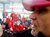 První trénink nového mužstva HK Mountfield vedl bývalý kouč Českých Budějovic Peter Draisaitl.