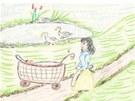 Ilustrace z knihy M. M. Trojákové Život v Oldřiši