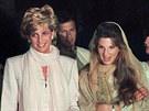 Princezna Diana a Jemima Khanová (21. února 1996)