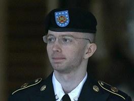 Bradley Manning na sn�mku z 29. �ervence 2013