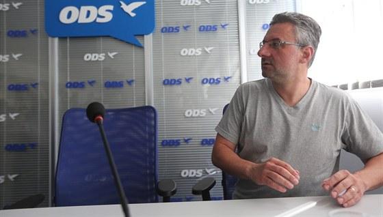 Europoslanec Jan Zahradil na jednání výkonné rady ODS (9. srpna 2013)