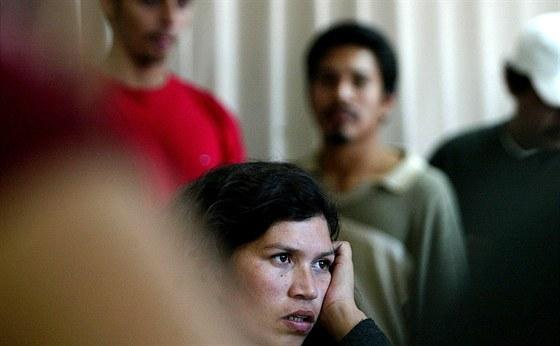 Čas od času se mezi uprchlíky z Hondurasu objeví i ženy.