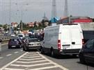 Kolony aut na pražské Jižní spojce