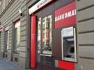 Pobočka UniCredit Bank v Holešovicích, kterou přepadl neznámý pachatel