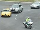 Klidný průjezd koloně zajišťovala policie.