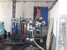 Požár kovovýrobny v Kroměříži. (2. srpna 2013)
