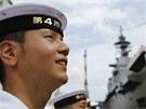Japonsko v úterý představilo svou největší válečnou loď od druhé světové války.