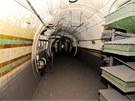 Stanice londýnského metra Brompton Road, která byla během 2. světové války
