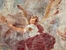 Václav Vavřinec Reiner: detail nástropní fresky ve špitálním kostele