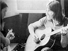 Pink Floyd (zleva David Gilmour, Roger Waters) při nahrávání v Château