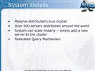 Xkeyscore b�� na masivn�m clusteru linuxov�ch server�, v roce 2008 to bylo asi...