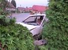 Ukradené auto z Opočna skončilo nabourané ve zdi v nedalekém Trnově na...