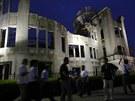 Železobetonová budova dříve sloužila jako Hirošimské centrum po podporu...