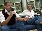 Havel s Třískou se v Liberci znovu setkali na besedě v roce 2003.