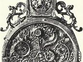 Snímek nejstarších známých přenosných hodin olomouckého hodináře Petera