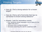 Jak mají agenti najít svůj cíl? Hledejte podezřelé akce a anomálie, třeba když...
