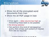 Příklad: ukaž mi zašifrované wordovské dokumenty z Íránu.