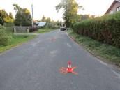 Srážky cyklisty s autem v Horní Brusnici na Trutnovsku