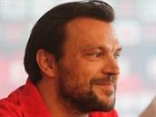 Tomáš Ujfaluši na tiskové konferenci po přestupu do Sparty.