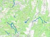 Mapový zákres k dočasným omezením vstupu a vjezdu v Krkonošském národním parku