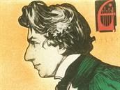 Roky ztracený plakát na koncert Rudolfa Frimla od Alfonse Muchy