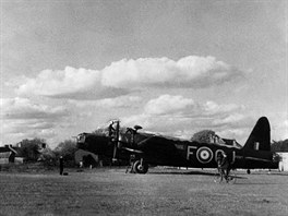 Jedna z chloub RAF - bombardér Wickers Wellington