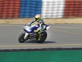 Ve středu 7. srpna testoval na Masarykově okruhu Valentino Rossi.