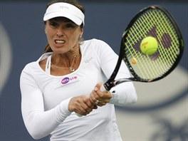 ZASE VYHRÁVÁ: Martina Hingisová se vrátila na kurty ve čtyřhře v Carlsbadu.
