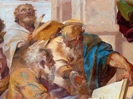 Václav Vavřinec Reiner: Starozákonní proroci - detail fresky v kartouze v